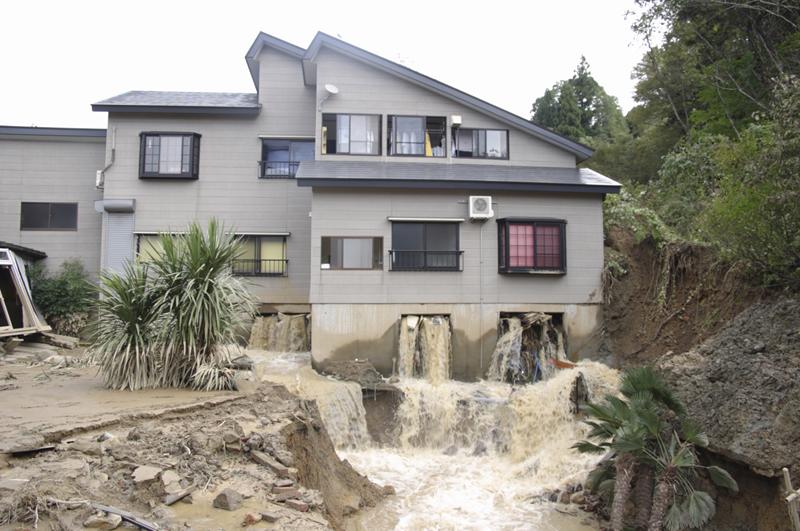 土地流失・建物床上浸水