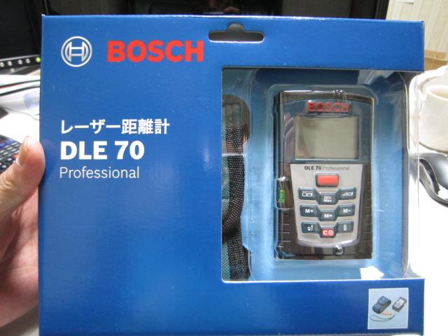 建物調査用にBOSCH(ボッシュ) レーザー距離計 DLE70型