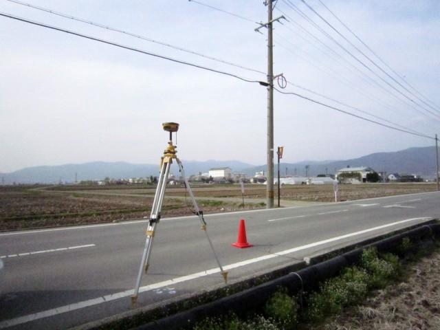 諏訪市 GNSS(GPS)測量風景